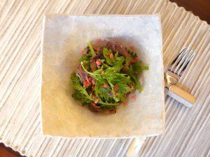 春菊すき焼きサラダ