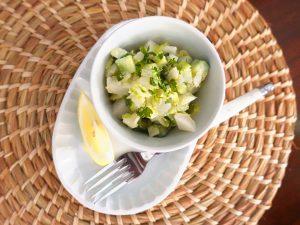 梨入りコールスローサラダ